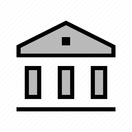 bank, capitol, columns, courthouse, vault, wall street icon