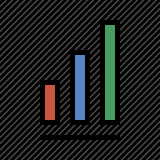 analytics, bar chart, performance, report, sales, stastics icon
