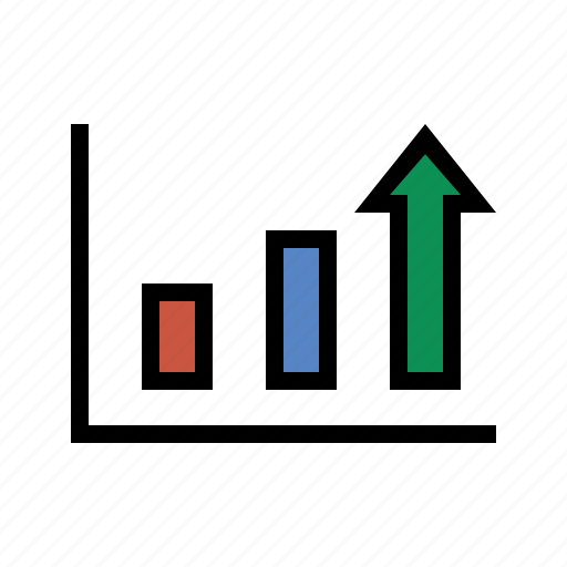 bar chart, growth, performance, report, sales, trending, upward icon