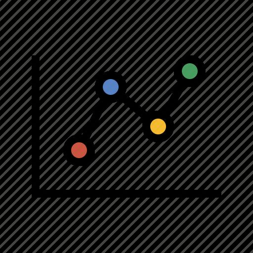 analytics, data, diagram, line chart, performance, sales icon