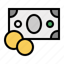 cash, change, coins, currency, money, payment, salary icon