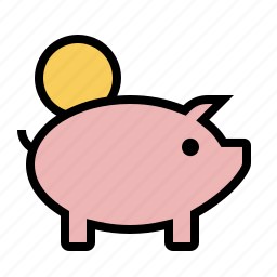 coin, currency, guardar, pig, piggy bank, save, savings icon