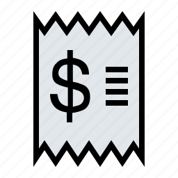 bill, checkout, ecommerce, purchase, receipt, retail icon