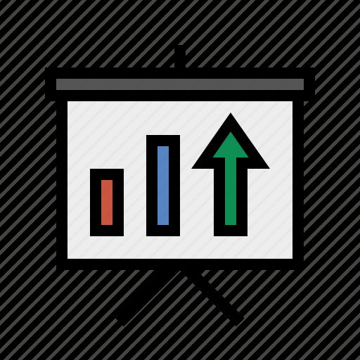 analytics, chart, performance, presentation, report, sales, trends icon