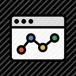 analytics, chart, line chart, report, sales, statistics, web analytics icon
