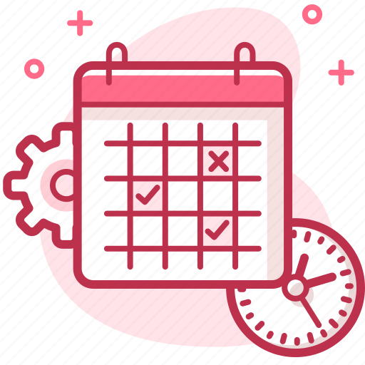 calander, clock, date, event, manage, setting, time icon