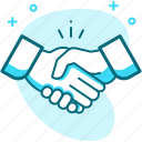 business, hand, handshake, meeting, partnership, union icon