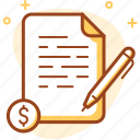 agreement, business, contract, signature icon