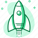 fast, project launch, rocket, space, startup icon