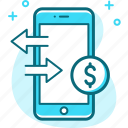 market, marketing, mobile, money, transfer icon
