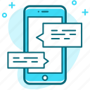 chat, message, messaging, mobile, sms, talk icon