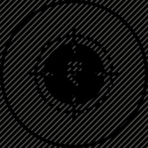 achievements, business, goal, mission, target, vision icon