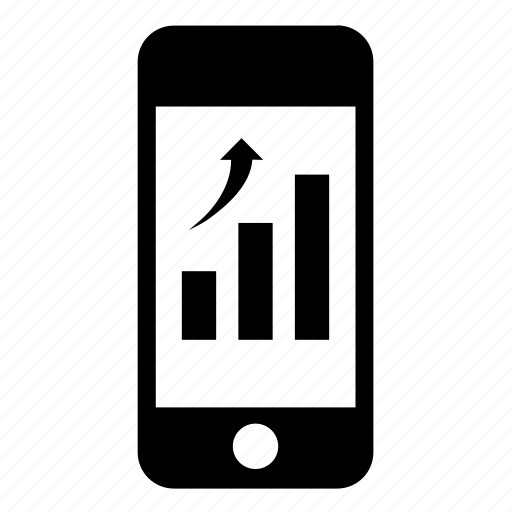 bargraph, business, finance, graph, iphone, phone, smartphone icon