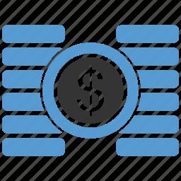 cent, coin, dollar, finance, financial, gold, money icon