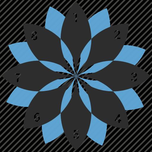 chart, infographic, pie icon