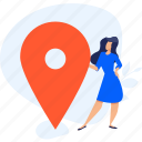 destination, gps, location, marker, navigation, people, pin icon