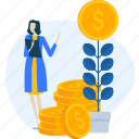 banking, business, currency, finance, investment, stock, trade icon
