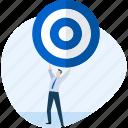aim, busienss, goal, marketing, people, plan, target icon