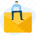 message, social, mail, e-mail, media, marketing, communication icon