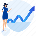 analytics, chart, increase, people, planning, presentation, strategy icon