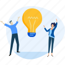 brainstorming, business, idea, innovation, invention, people, startup icon