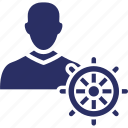 anchor, boat, ocean, water, yacht icon