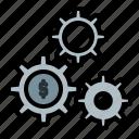 business, cog, cogwheels, finance, gears, making, money icon