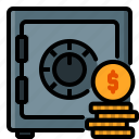 account, business, deposit, finance, money, safe, saving icon