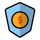 business, finance, insurance, protection, secure, security, shield icon