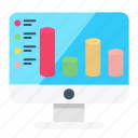 analytics, business, chart, computer, finance, graph, round bar icon