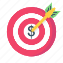 arrow, business, finance, goal, strategy, target icon
