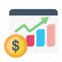 chart, currency, dollar, finance, graph, growth, increase icon