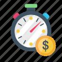 business, dollar, finance, money, stopwatch, time