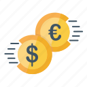 currency, dollar, euro, fast, finance, money, transaction icon