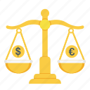 business, currency, dollar, euro, finance, law, money icon