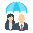 business, employee, finance, health, insurance, protection icon