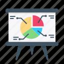 analytics, board, chart, finance, graph, pie, presentation