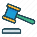 auction, court, hammer, justice, law icon