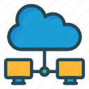 cloud, connection, network, server, storage icon