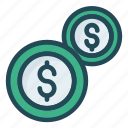 cash, coin, dollar, investment, money icon