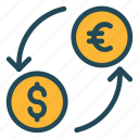 cash, currency, dollar, exchange, transfer icon