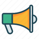 accouncement, ads, loud, marketing, speaker icon