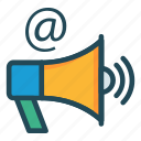 ads, email, loud, megaphone, speaker icon