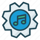 configure, melody, music, setting, song icon