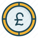 cash, coin, currency, money, pound icon
