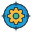 configure, focus, gear, setting, target icon