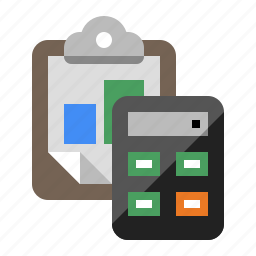 accounting, analytics, calculator, clipboard, statistics icon