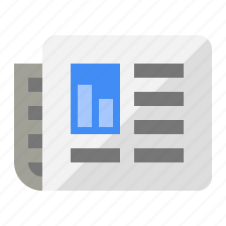 business, journal, news, paper, report, stocks icon