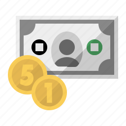 cash, coins, currency, dollar, euro, money icon