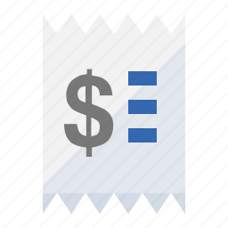 bill, payment, purchase, receipt, retail, sales icon